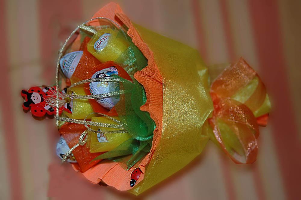 Сладкий букет из конфет своими руками 99
